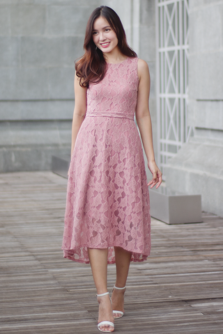 Cambert Lace Dress (Blush)