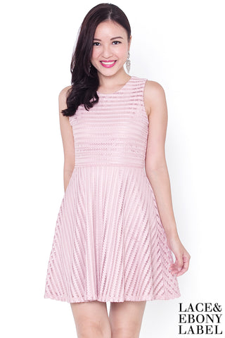 Aurora Emboss Dress (Blush)