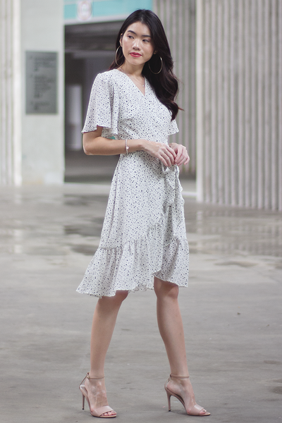 Tatier Wrap Dress (White)