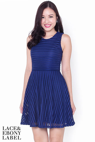 Aurora Emboss Dress (Navy)