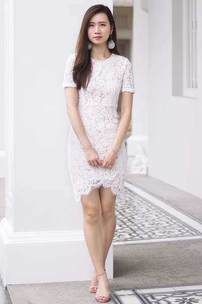 Yves Lace Dress (White)