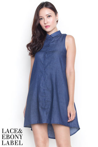 Baye Chambray Shirtdress (Dark)