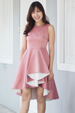 Charyne Fit & Flare Dress (Dusty Rose)