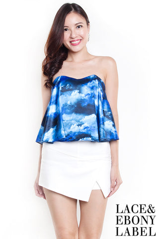 Raylin Abstract Bustier (Blue)