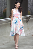 Ariene Abstract Wrap Dress