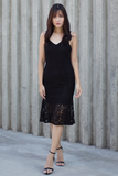 Ferle Mermaid Lace Dress (Black)