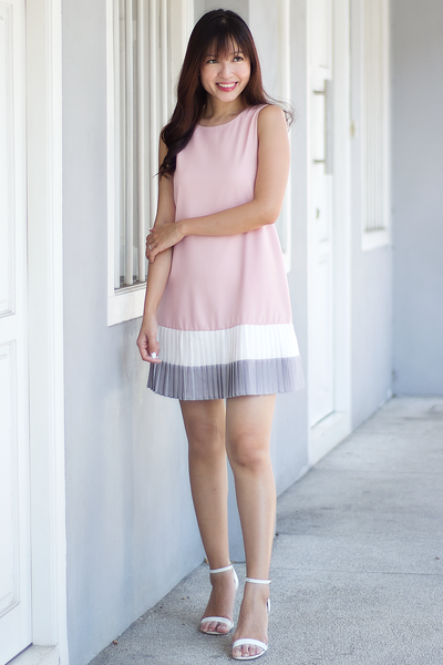 Darcella Colourblock Dress (Pink)
