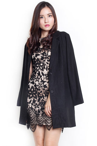 Tams Wool Coat (Black)