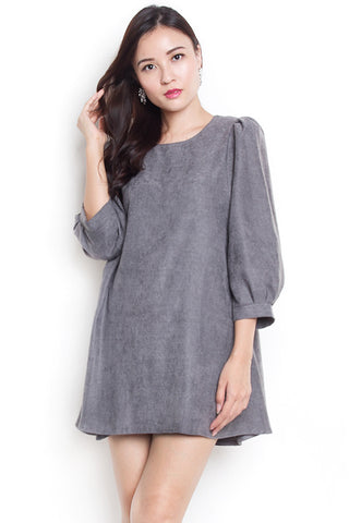 Kinde Sleeves Dress (Grey)