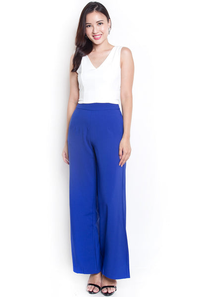 Jame Straight-Cut Pants (Blue)