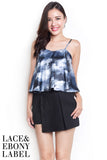 Raylin Abstract Bustier (Grey)