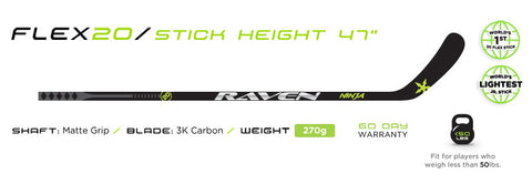 RAVEN FLEX 20 NINJA YTH HOCKEY STICK