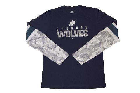 WOLVES CAMO LONG SLEEVE SHIRT