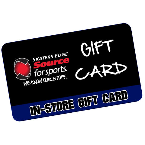 Skater's Edge $100 In-Store Gift Card