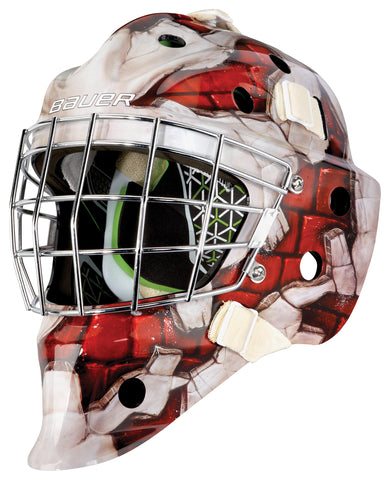 BAUER NME 4 SENIOR MASK WALL RED