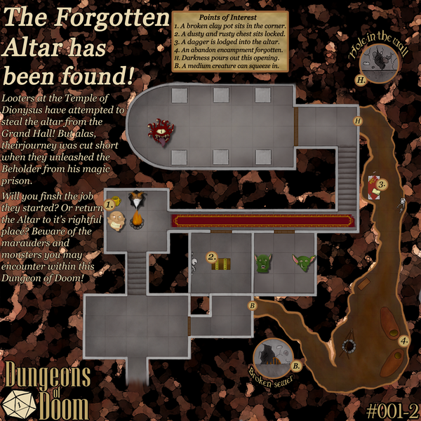 D&D Dungeon Tour + Download: #001 The Forgotten Altar