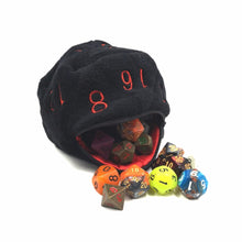 Load image into Gallery viewer, D20 Plush Dice Bag