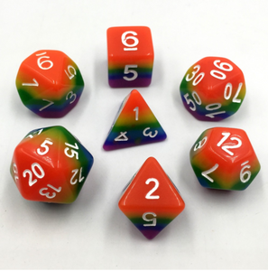 Melting Rainbow Dice Set
