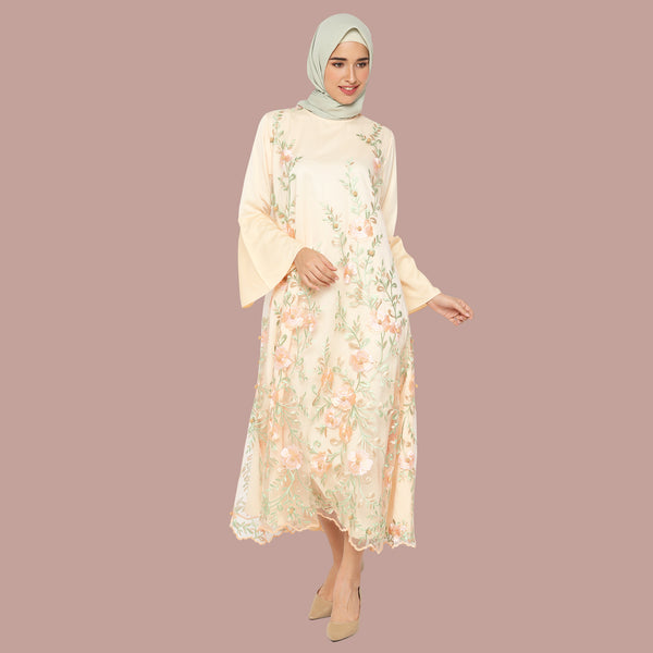Adriana Organic Dress (Rose Gold Series) - zayanaorganic