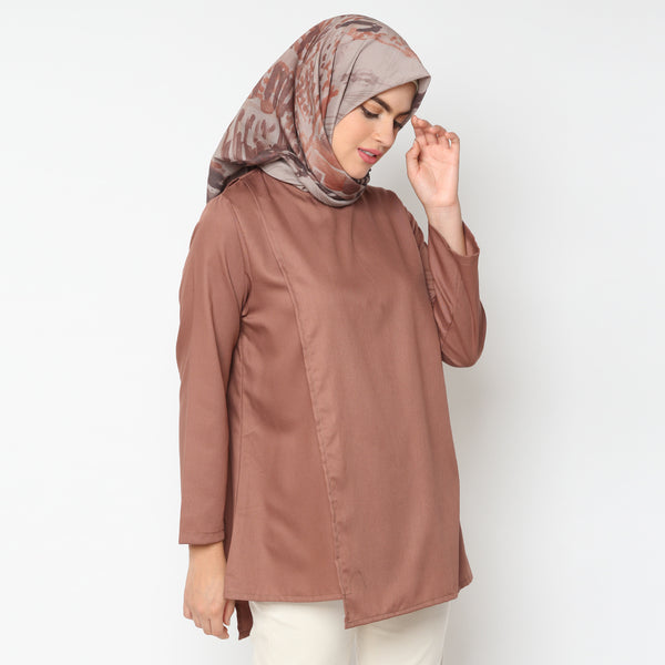 Sania Brown Organic Tunik - zayanaorganic