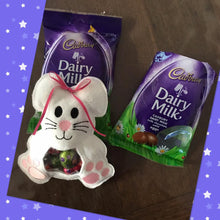 Load image into Gallery viewer, Treat Bag - Easter Bunny - Dark Purple With Light Pink Feet