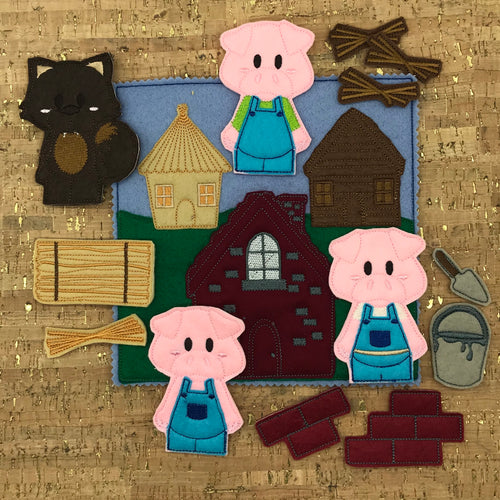 Finger puppets - Three Little Pigs & Story Board