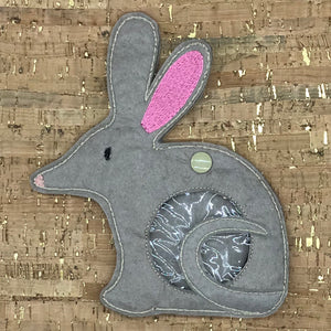 Treat Bag - Easter Bilby - Large Beige Grey