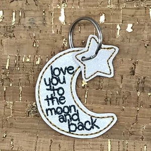 Key/Bag Tag - Love you to the moon and back