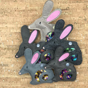 Treat Bag - Easter Bilby - Large Dark Grey