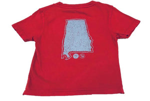 Short-Sleeve Crimson/Gray State of Alabama T-Shirt