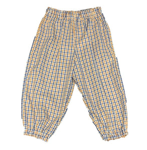 Orange/Navy Gingham Bubble Pants