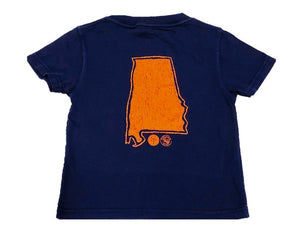 Short-Sleeve Navy/Orange State of Alabama T-Shirt