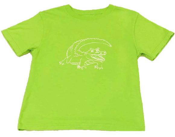 Short-Sleeve Lime Alligator T-Shirt