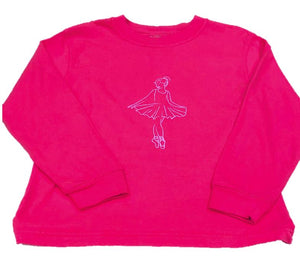 Long-Sleeve Pink Ballerina T-Shirt