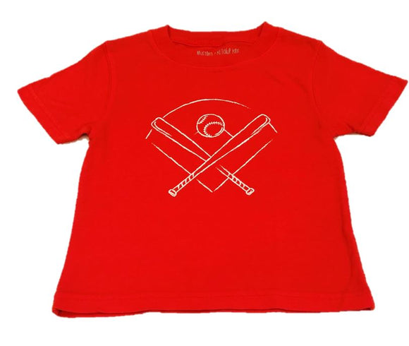 Short-Sleeve Red Baseball T-Shirt
