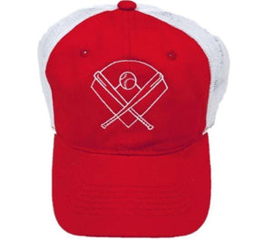 Red Baseball Trucker Hat