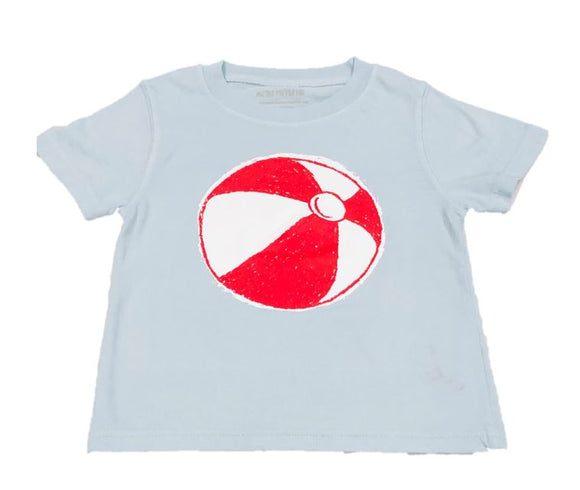 Short-Sleeve Light Blue Beach Ball T-Shirt