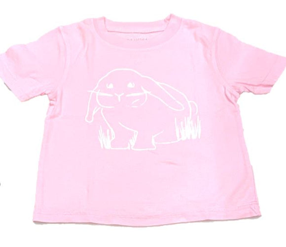 Short-Sleeve Light Pink Bunny T-Shirt