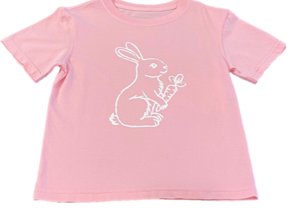 Short-Sleeve Lt. Pink Bunny with Carrot T-Shirt