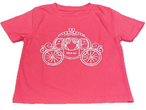 Short-Sleeve Pink Carriage T-Shirt