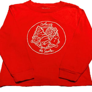 Long-Sleeve Red Christmas Cookies T-Shirt