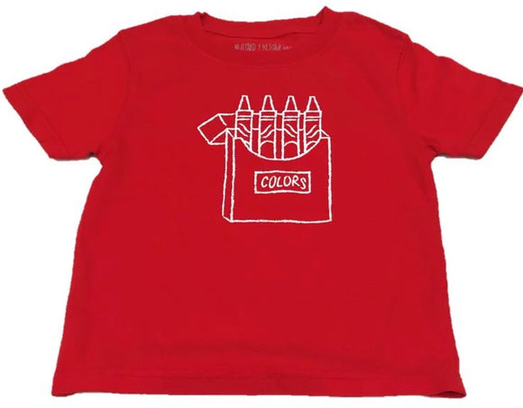 Short-Sleeve Red Crayons T-Shirt