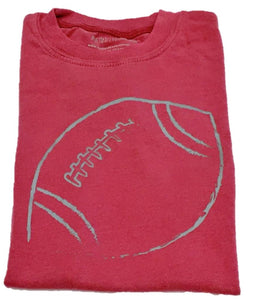 Short-Sleeve Crimson/Gray Football T-Shirt