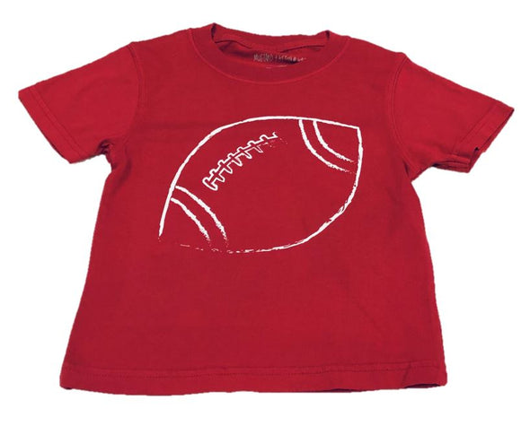 Short-Sleeve Crimson/White Football T-Shirt