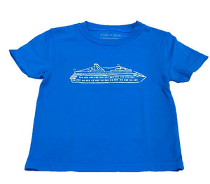 Short-Sleeve Carribean Blue Cruise Boat T-Shirt
