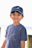 Navy Sport Fishing Boat Trucker Hat