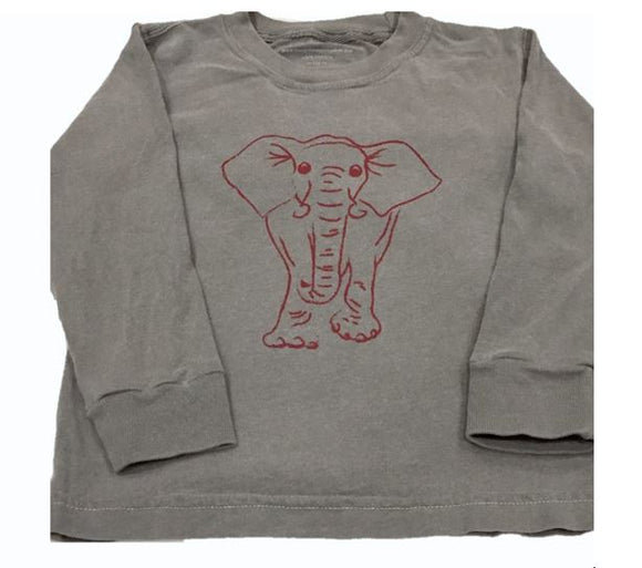 Long-Sleeve Gray Elephant T-Shirt