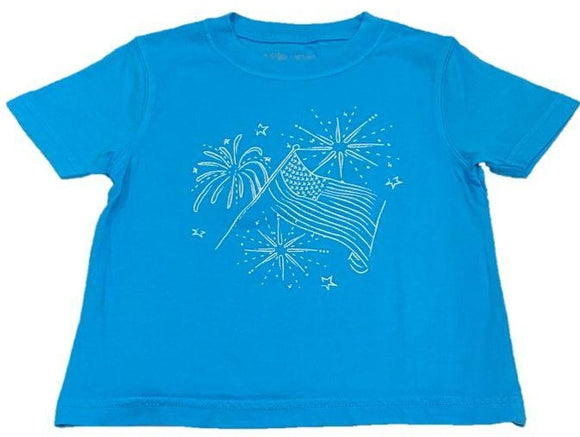 Short-Sleeve Blue Flag Tee