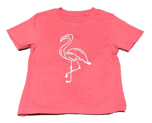 Short-Sleeve Peony Pink Flamingo T-Shirt