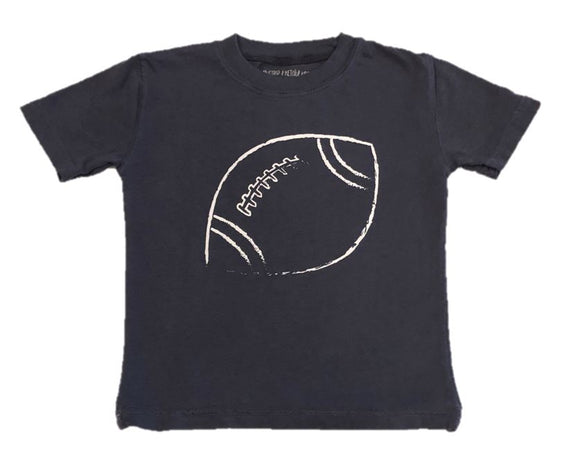 Short-Sleeve Navy Football T-Shirt
